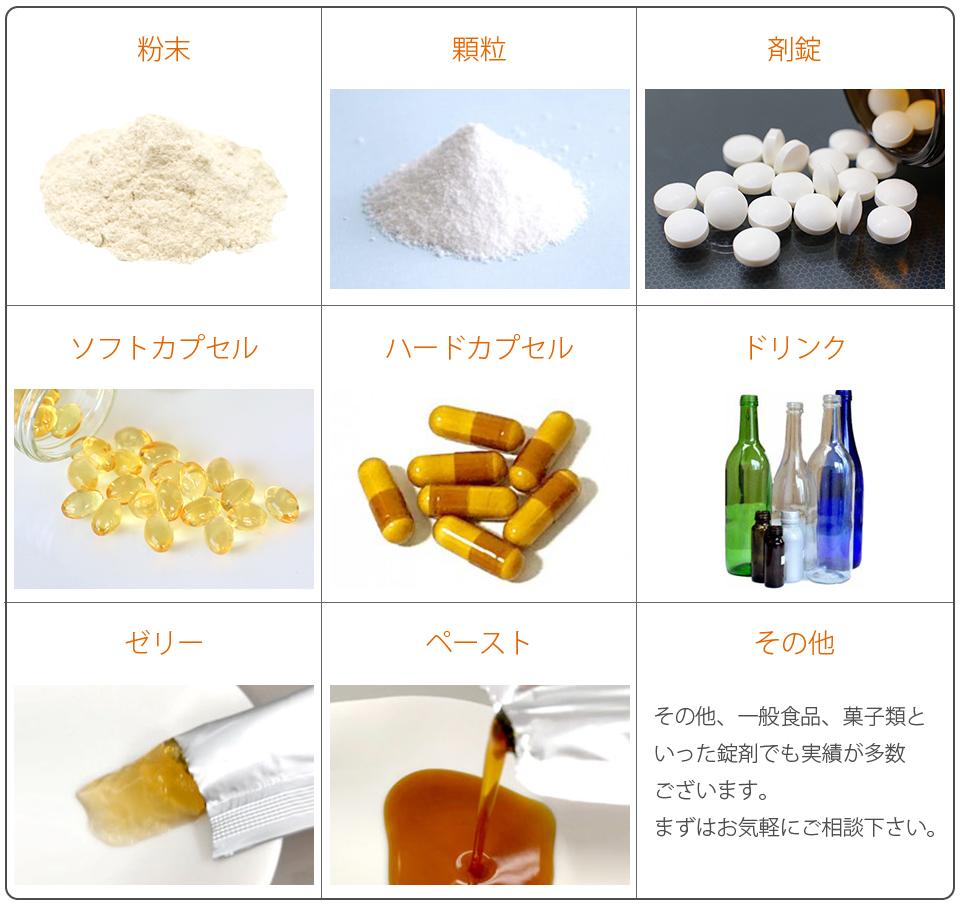 取扱い剤型 一例